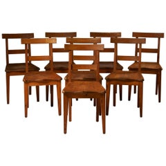 Set of Eight Dining Chairs, Anonymous, Sweden, 1950s