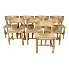 Set of Eight Dining Chairs Attributed to Renier Daumiller, Denmark, circa 1970