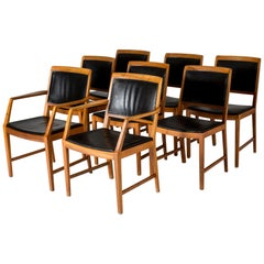 Set of Eight Dining Chairs by Bertil Fridhagen