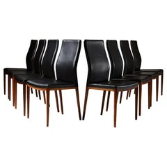 Set of Eight Dining Chairs by Helge Vestergaard Jensen for Sören Horn, Denmark