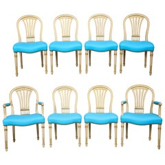 Set of Eight Dining Chairs by Maison Jansen