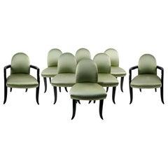 Satz von acht Esszimmerstühle von Wendell Castle