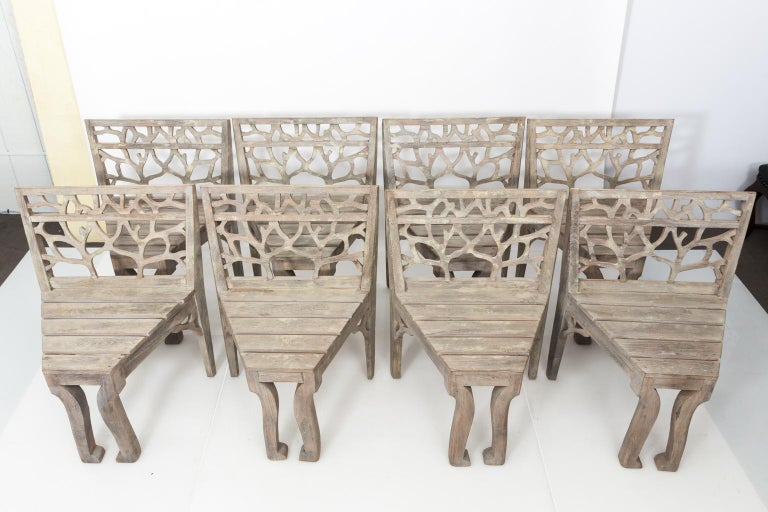 Mid-Century Modern Set of Four Dining Chairs For Sale