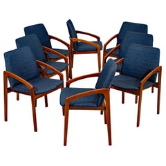 Set of Eight Dining Chairs, Henning Kjærnulf for Korup Stolefabrik, Denmark