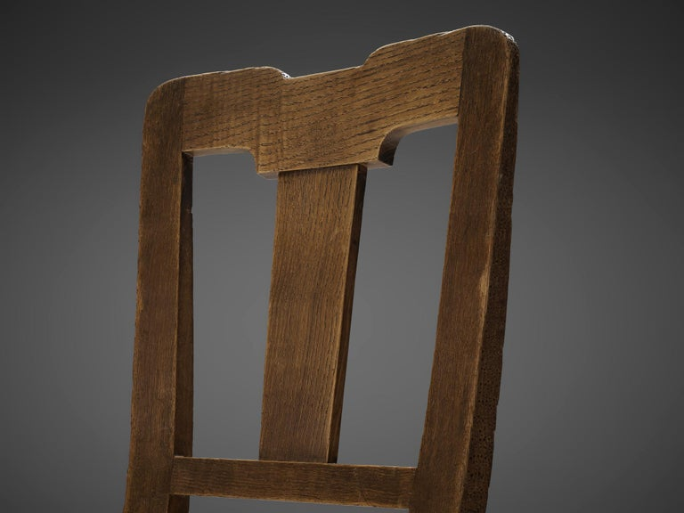 Set of Eight Dining Chairs in Oak by Ernesto Valabrega For Sale 3