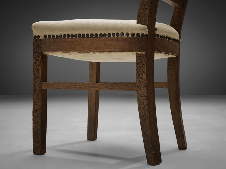 Set of Eight Dining Chairs in Oak by Ernesto Valabrega For Sale 2