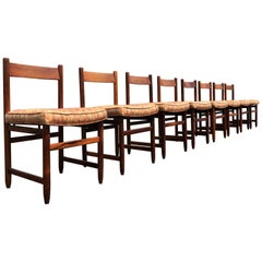 Set of Eight Dining Chairs in Solid Brazilian Rosewood by Sergio Rodrigues