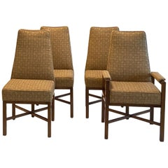 Set of Eight Upholstered Dining Chairs by Dunbar, 1970s