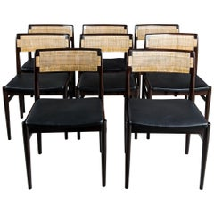 Set of Eight Dining Room Chairs Design by Erik Worts, Denmark, circa 1960.