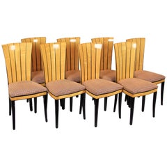 Set of Eight Dining Room Chairs Saarinen House by Adelta, Finland, circa 1983