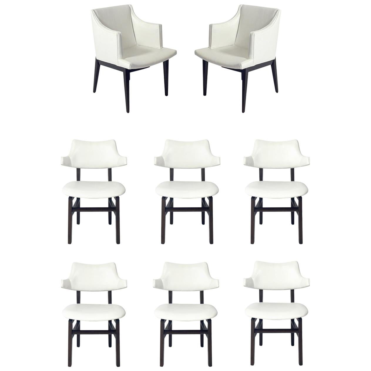Set of Eight Dunbar Dining Chairs by Edward Wormley