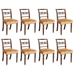 Set of Eight Early 19th Century Irish Mahogany Dining Chairs