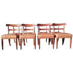 Set of Eight Early Nineteenth Century Regency Oak Dining Chairs