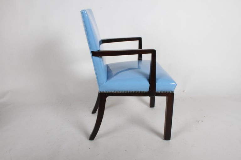 Set of Eight Edward J. Wormley for Dunbar Dining Chairs, circa 1950 For Sale 4