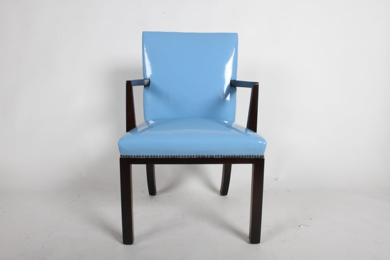 Mid-Century Modern Set of Eight Edward J. Wormley for Dunbar Dining Chairs, circa 1950 For Sale