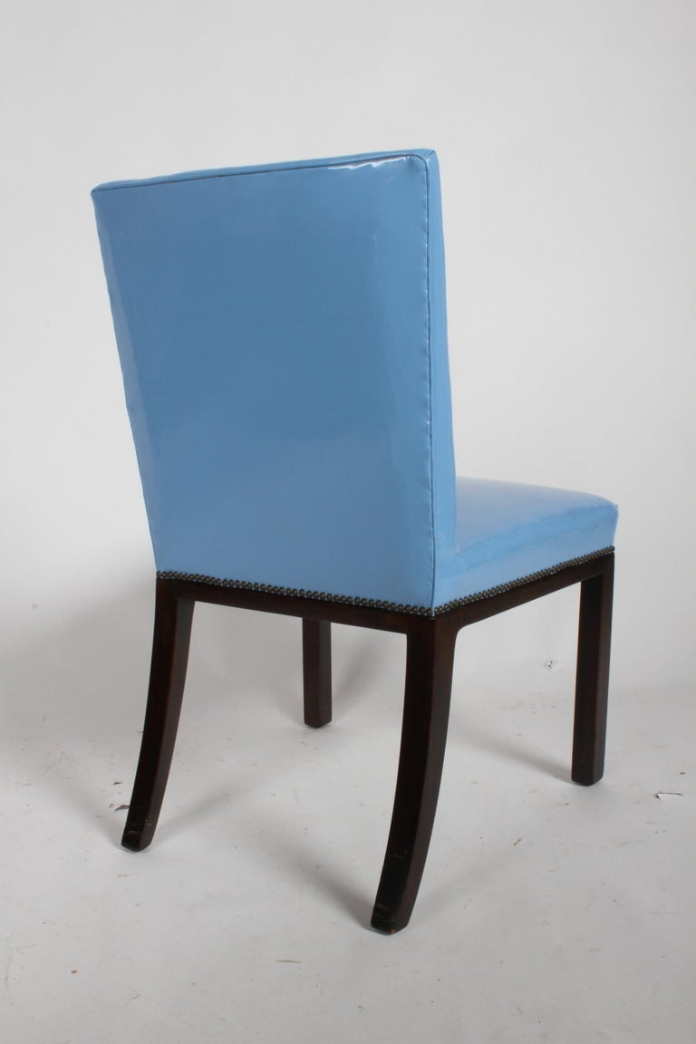 Set of Eight Edward J. Wormley for Dunbar Dining Chairs, circa 1950 In Good Condition For Sale In St. Louis, MO