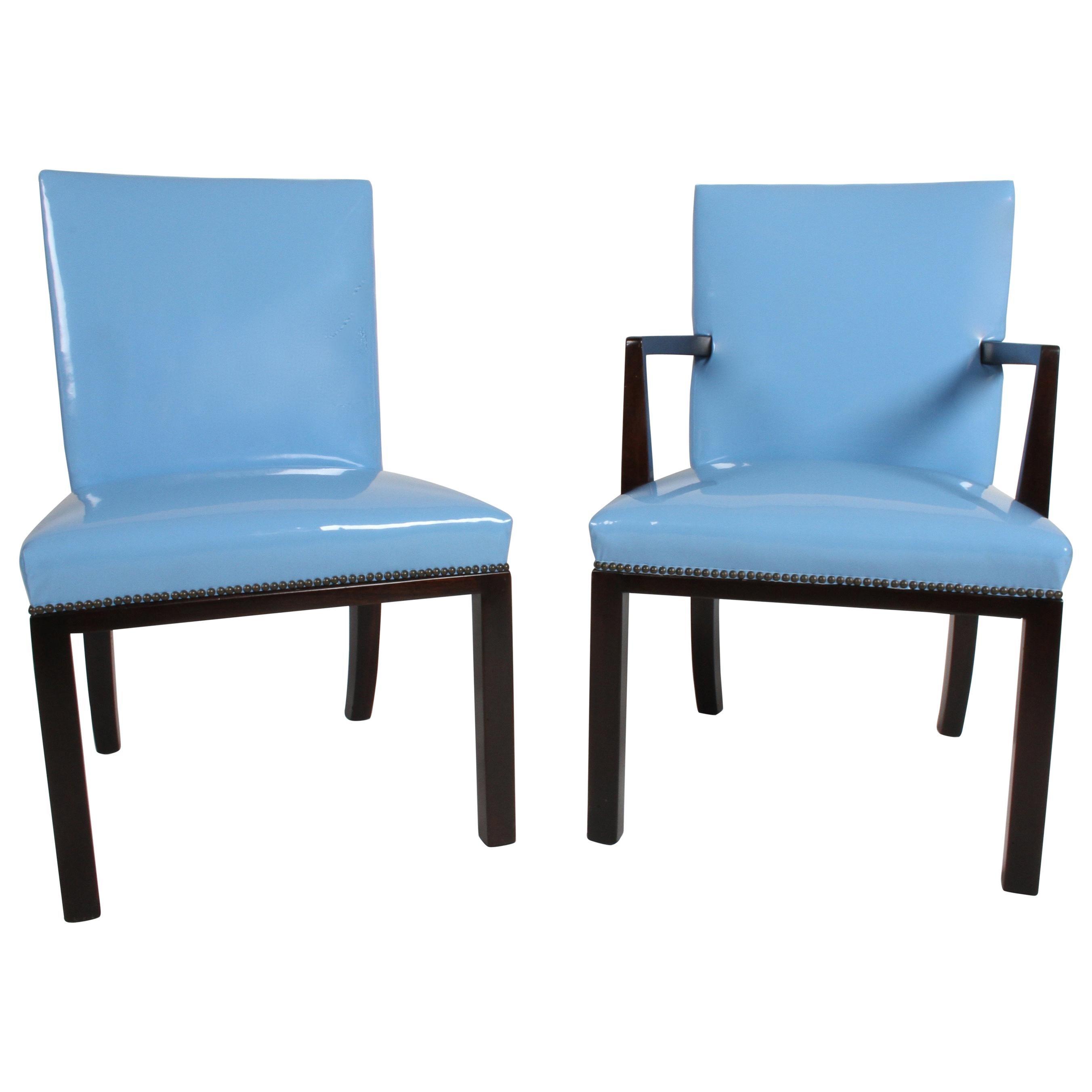 Set of Eight Edward J. Wormley for Dunbar Dining Chairs, circa 1950
