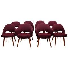 Set of Eight Eero Saarinen Dining Chairs for Knoll, circa 1960s