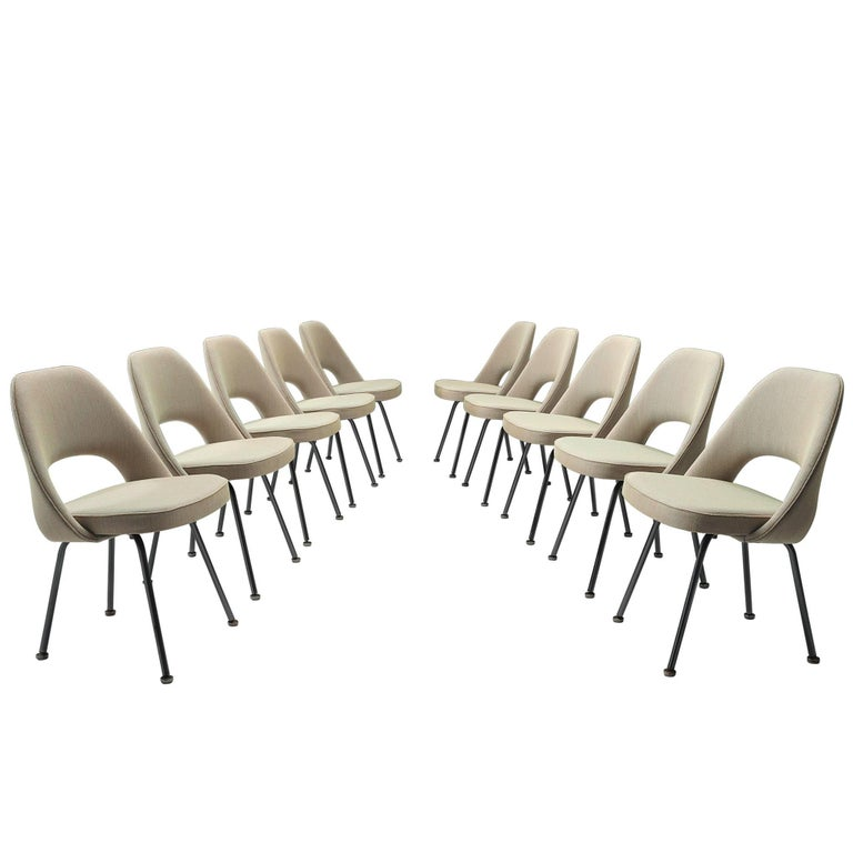 Set of Ten Eero Saarinen for Knoll Chairs For Sale