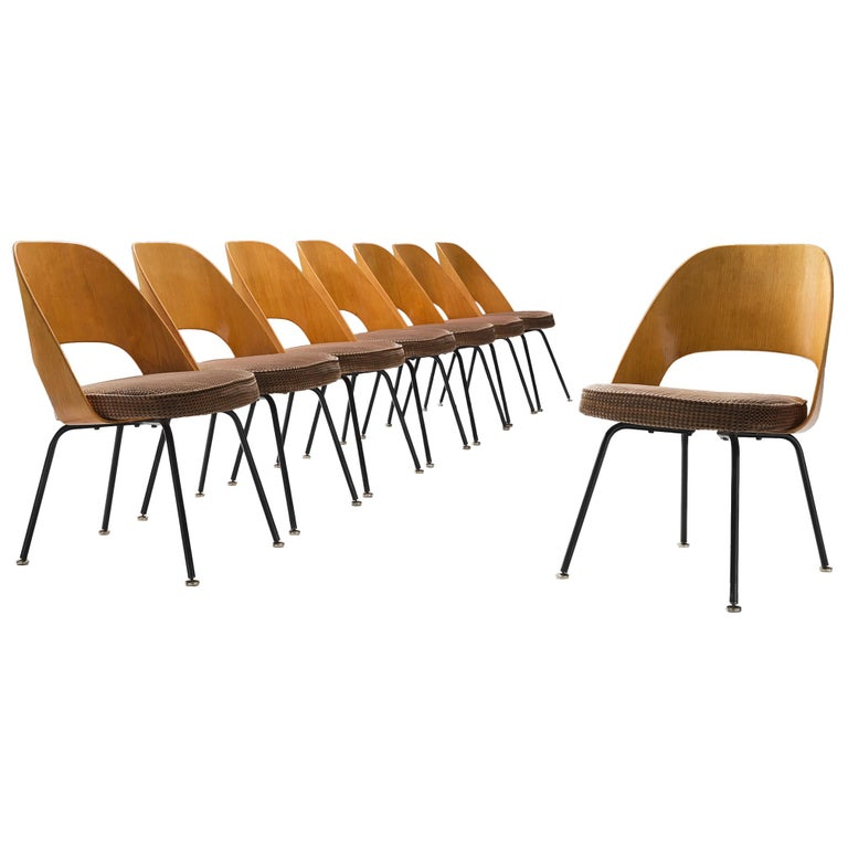 get cheap 38954 f0191 Set of Eight Eero Saarinen for Knoll Dining Chairs