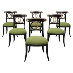 Set of Eight Empire Dining Room Chairs