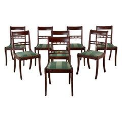Set of Eight English Regency Style Mahogany Dining Chairs