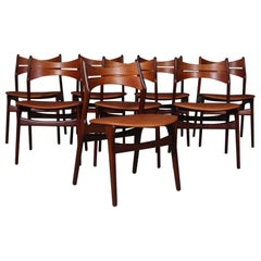 Set of Eight Erik Buch Chairs