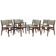 Set of Eight Erik Buch Danish Teak Dining Chairs, circa 1960s