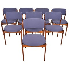 Set of Eight Erik Buch Model 49 Danish Modern Dining Chairs in Rosewood
