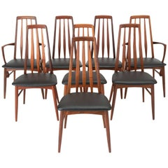 Set of Eight Eva Dining Chairs by Niels Koefoed for Koefoeds Mobelfabrik