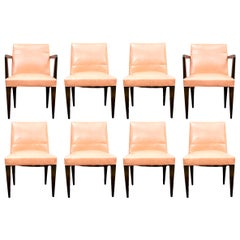 Set of Eight Fine Midcentury Edward Wormley for Dunbar Designer Dining Chairs