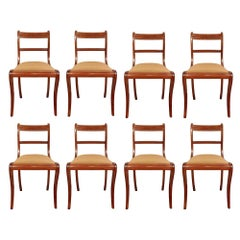 Set of Eight French 19th Century Charles X Style Dining Chairs