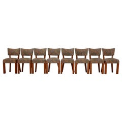 Set of Eight French Art Deco Dining Chairs Attr. to Charles Dudouyt '8'