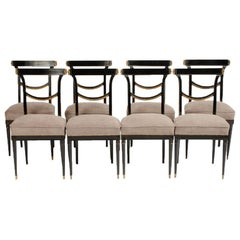 Set of Eight French Dining Chairs by Jansen