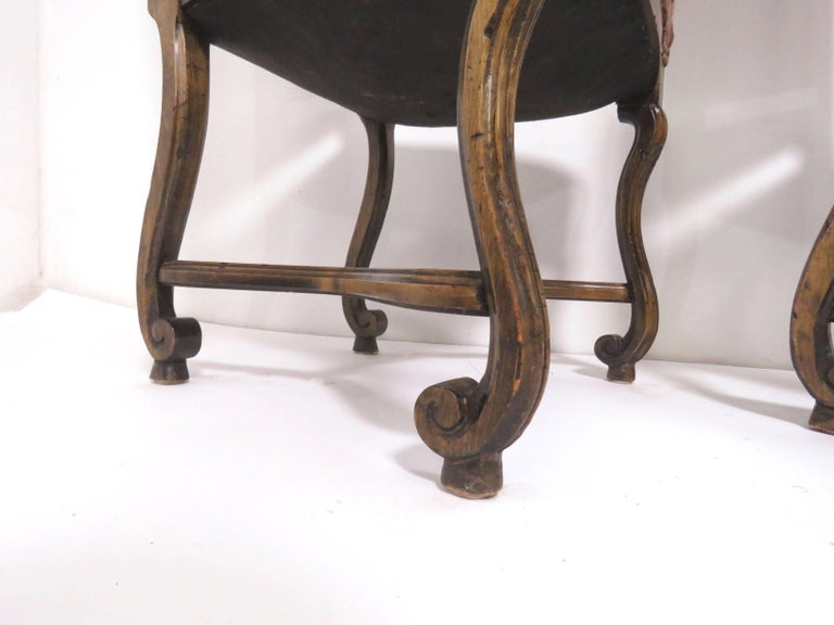 Mid-20th Century Set of Eight French Louis XIV Style Carved High Back Dining Chairs For Sale