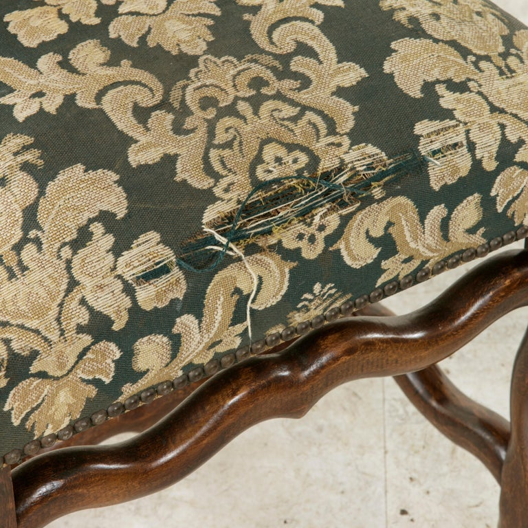 Set of Eight French Louis XIV Style Mutton Leg Side Chairs, Dining Chairs For Sale 7