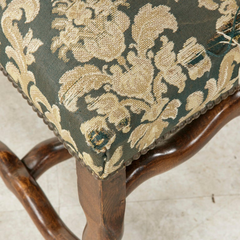 Set of Eight French Louis XIV Style Mutton Leg Side Chairs, Dining Chairs For Sale 8