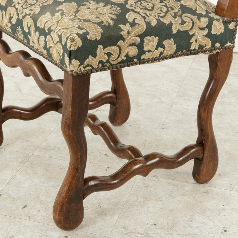Set of Eight French Louis XIV Style Mutton Leg Side Chairs, Dining Chairs For Sale 9