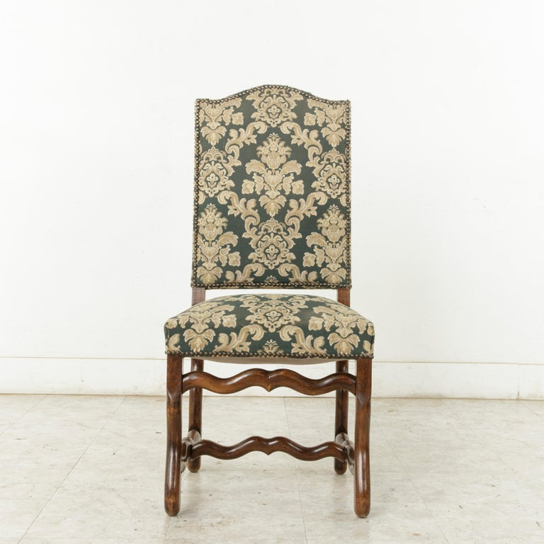Mid-20th Century Set of Eight French Louis XIV Style Mutton Leg Side Chairs, Dining Chairs For Sale