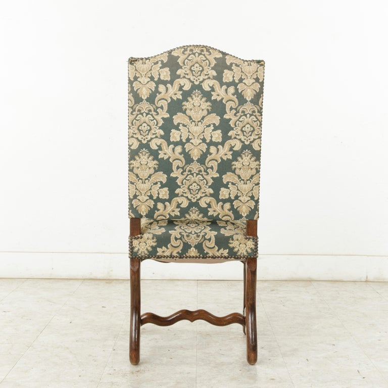 Set of Eight French Louis XIV Style Mutton Leg Side Chairs, Dining Chairs For Sale 1