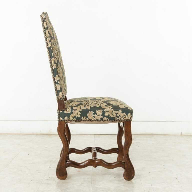 Set of Eight French Louis XIV Style Mutton Leg Side Chairs, Dining Chairs For Sale 2