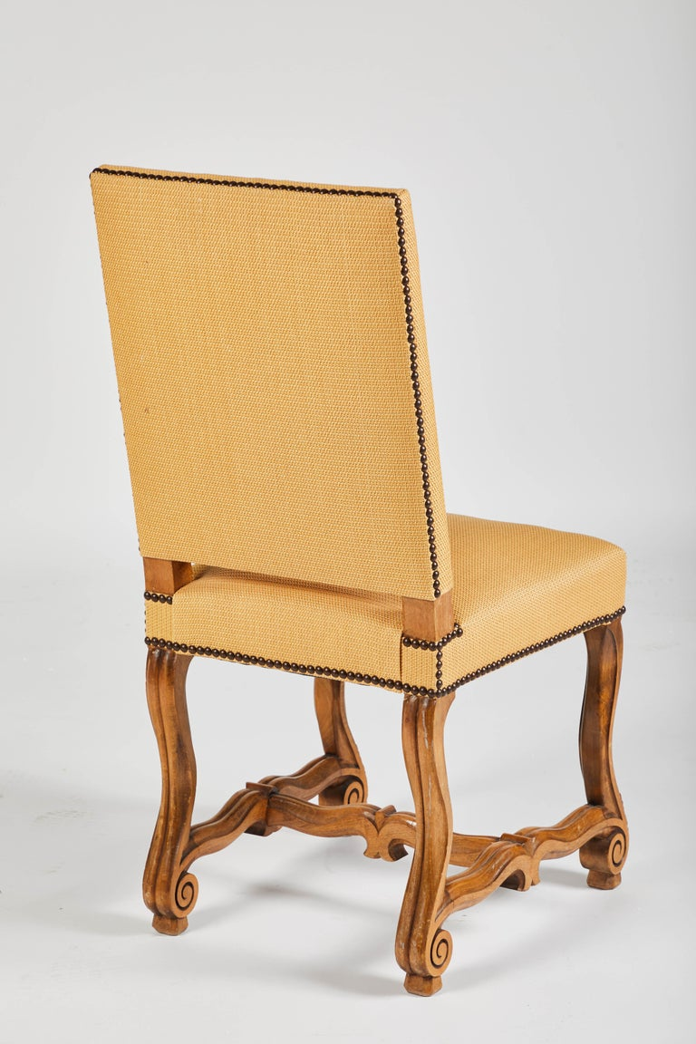 19th Century Set of Eight French Os De Mouton Louis XIV Style Dining Chairs For Sale