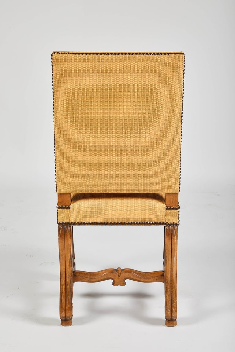 Set of Eight French Os De Mouton Louis XIV Style Dining Chairs For Sale 1