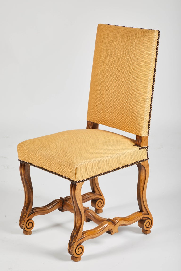 Set of Eight French Os De Mouton Louis XIV Style Dining Chairs For Sale 2