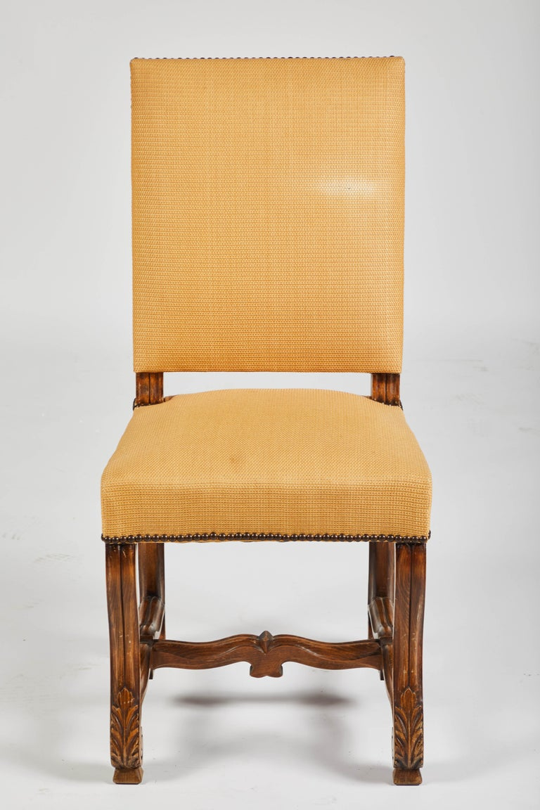 Set of Eight French Os De Mouton Louis XIV Style Dining Chairs For Sale 4