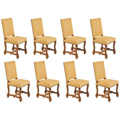 Set of Eight French Os De Mouton Louis XIV Style Dining Chairs