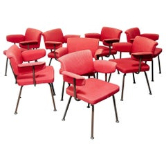 Set of Eight Friso Kramer 'Resort' Chairs
