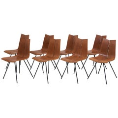 "Set of Eight ""GA"" Chairs by Hans Bellmann for Horgen-Glarus, Switzerland, 1950s"