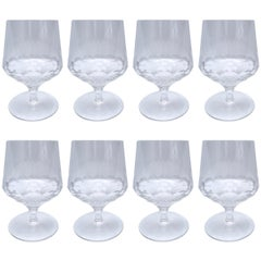 Set of Eight Georgian Inspired Hand Blown Crystal Glasses