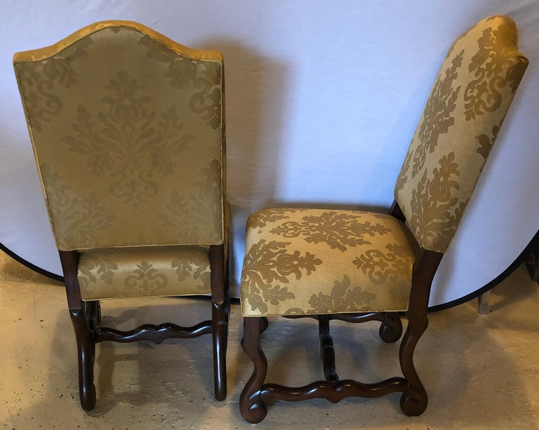 Wood Set of Eight Georgian Style Dining Chairs For Sale